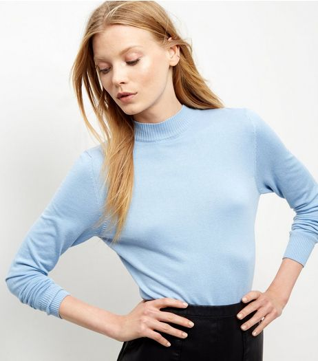 Pale Blue Funnel Neck Jumper | New Look