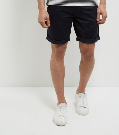 Produkt Navy Turn Up Shorts | New Look