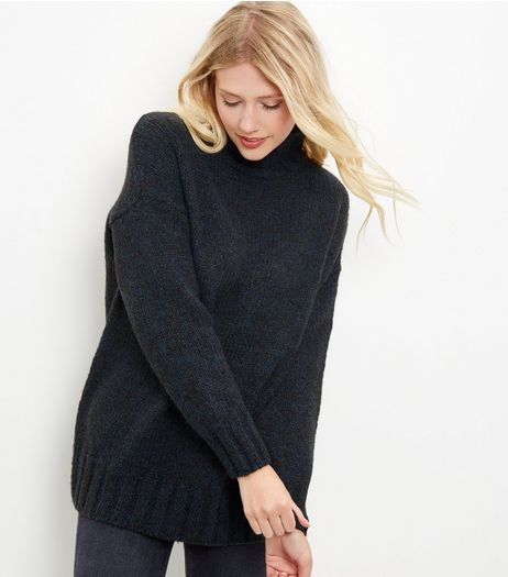 Blue Turtle Neck Jumper | New Look
