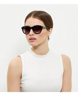 Black Cat Eye Sunglasses  | New Look
