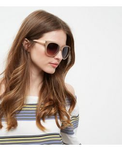 Mink Flat Top Sunglasses | New Look
