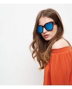 Brown Oversized Tortoiseshell Print Sunglasses | New Look