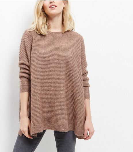Mid Pink Ribbed Jumper  | New Look