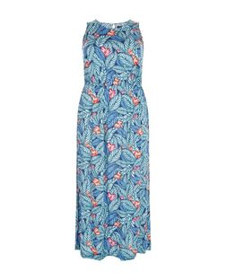 Plus Size Blue Floral Print Maxi Dress | New Look