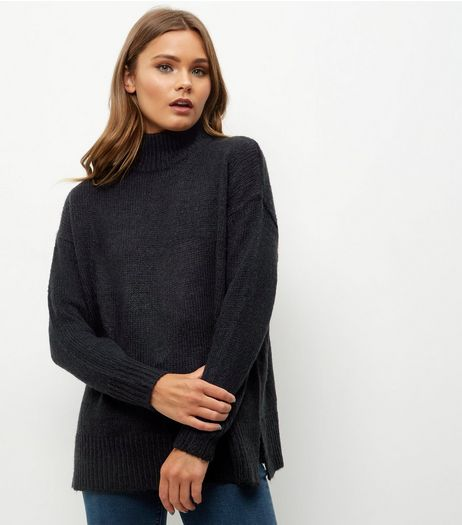 Black Turtle Neck Jumper | New Look