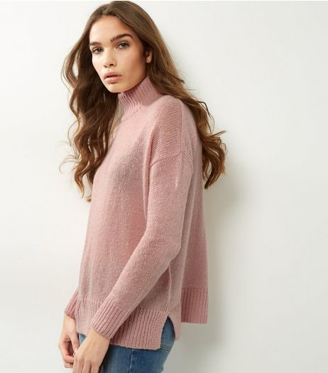 Shell Pink Turtle Neck Jumper | New Look