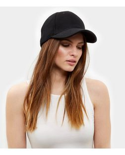 Black Mesh Cap  | New Look