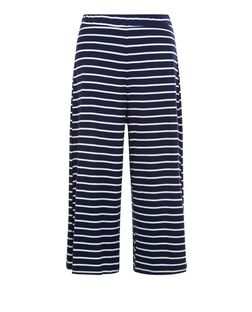 Blue Vanilla Navy Stripe Culottes | New Look