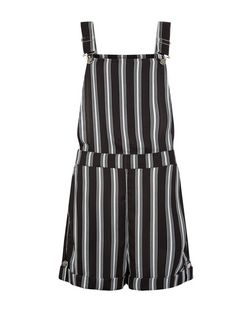 Innocence Black Stripe Dungarees | New Look