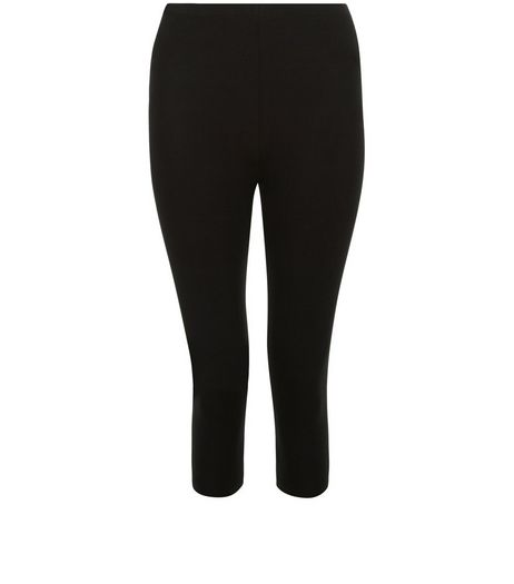 Black 17in Cropped Leggings  | New Look