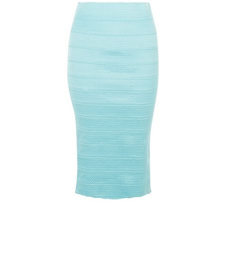 Mint Green Bandage Bodycon Pencil Skirt  | New Look