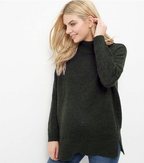 Maternity Grey Turtle Neck Jumper  | New Look