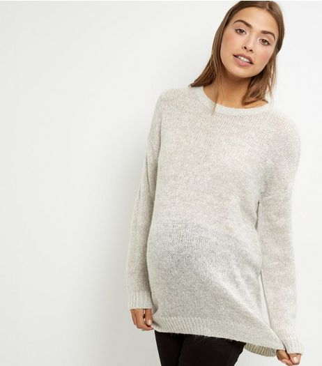 Maternity Grey Boxy Jumper  | New Look