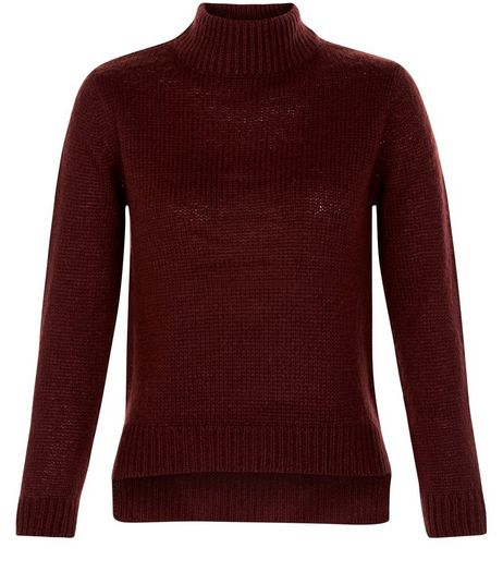 Teens Burgundy Turtle Neck Jumper | New Look