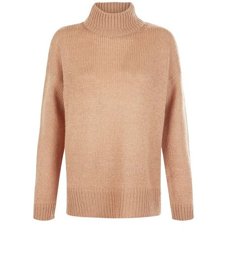 Tall Camel Ribbed Turtle Neck Jumper | New Look