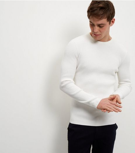 Cream Cotton Ribbed Jumper | New Look