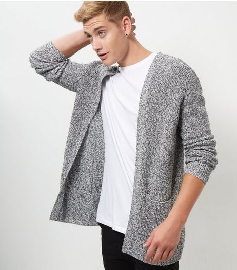 Grey Textured Cardigan  | New Look