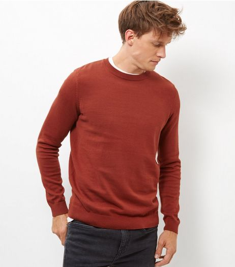 Rust Crew Neck Cotton Jumper | New Look