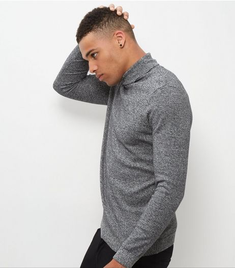 Black Twist Cotton Roll Neck Jumper | New Look