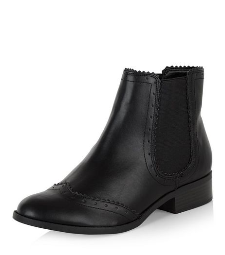 Black Embossed Chelsea Boots  | New Look
