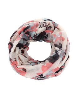 Pink Floral Print Oversized Snood  | New Look