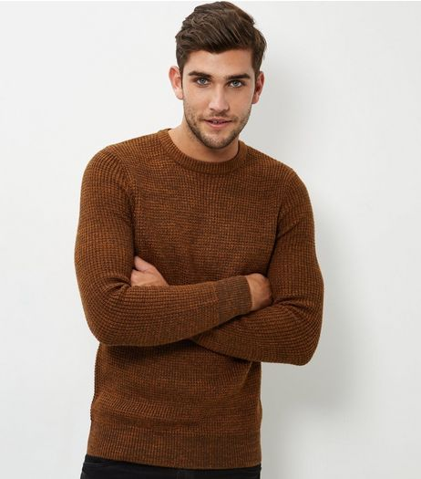 Camel Textured Jumper | New Look