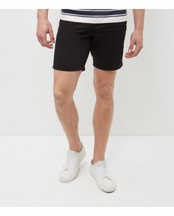 Black Turn Up Chino Shorts  | New Look