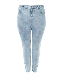 Curves Pale Blue Acid Wash Skinny Jeans | New Look