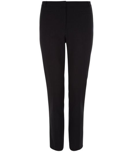 Teens Black Stretch Trousers | New Look