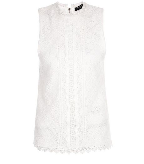 Tall Cream Lace Sleeveless Shell Top | New Look