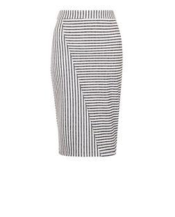 White Stripe Pencil Skirt  | New Look