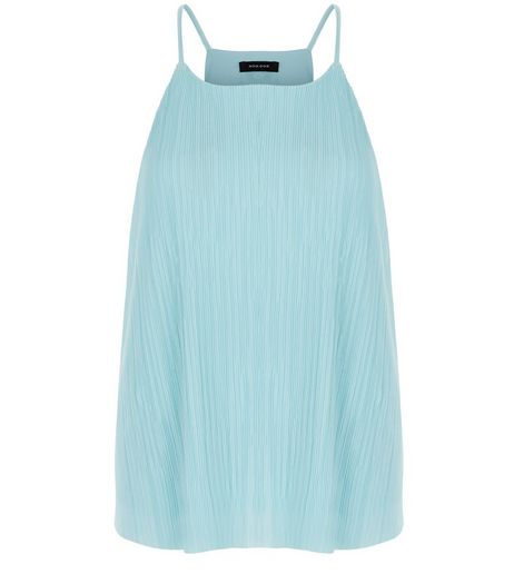 Mint Green Pleated Cami  | New Look