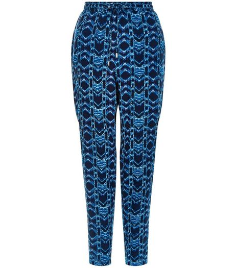 Blue Tie Dye Abstract Print Joggers  | New Look