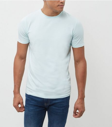Mint Green Cotton Stretch T-Shirt  | New Look