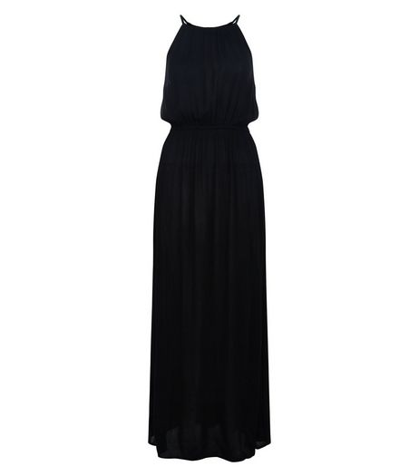 Teens Black High Neck Maxi Dress | New Look