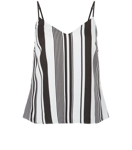 Love & Lies Black Stripe V Neck Cami  | New Look