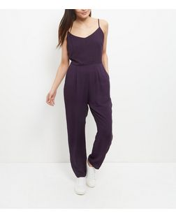 Navy Strappy Jumpsuit  | New Look