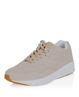 Camel Textured Trainers  | New Look
