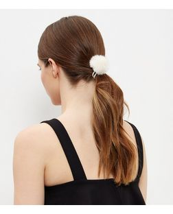 Black Pom Pom Hair Band Pack | New Look