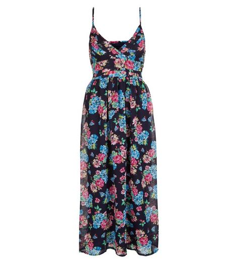 Mela Blue Floral Print Maxi Dress | New Look