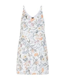 White Floral Print Slip Dress | New Look