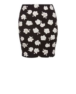 Teens Black Floral Print Tube Skirt | New Look