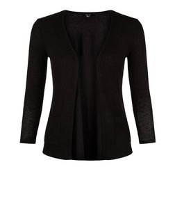 Teens Black Ribbed Cardigan | New Look