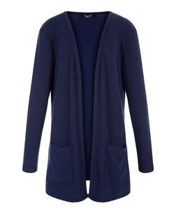 Teens Navy Ribbed Cardigan | New Look