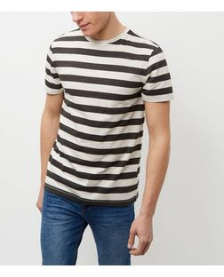 Black Stripe T-Shirt  | New Look