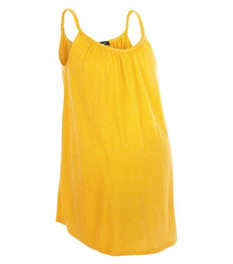 Maternity Yellow Plaited Trim Vest | New Look
