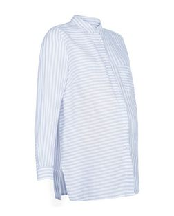 Maternity White Stripe Long Sleeve Shirt | New Look
