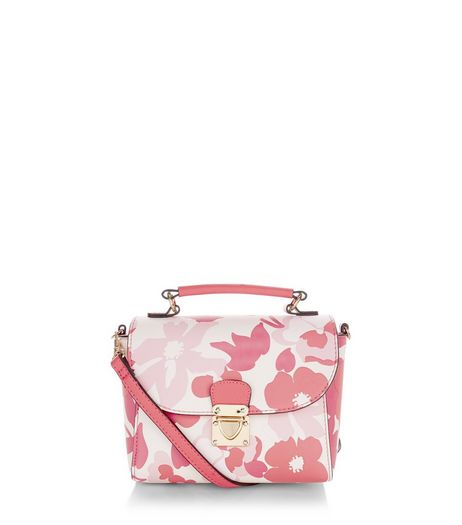 Pink Floral Print Mini Across Body Bag  | New Look