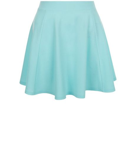 Teens Mint Green High Waisted Skater Skirt | New Look