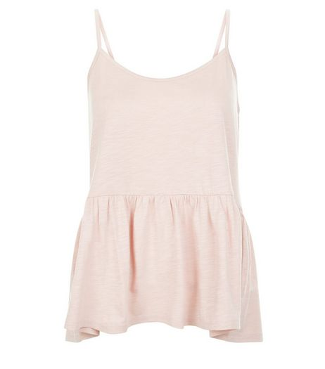 Mid Pink Peplum Cami  | New Look